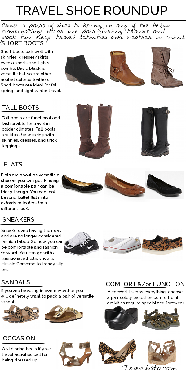fashionable shoes for travel