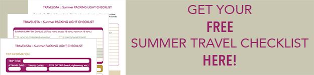 Packing Light Summer Checklist